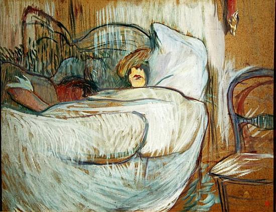 in bed 1894 oil on card henri de toulouse lautrec. Black Bedroom Furniture Sets. Home Design Ideas
