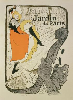 Reproduction of a poster advertising 'Jane Avril' at the Jardin de Paris