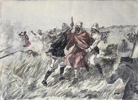 The capture of Toure Samory (c.1835-1900) by Lieutenant Jacquin near Guelemou in 1898, from 'Le Peti
