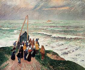 In expectation of the fishermen (Brittany)
