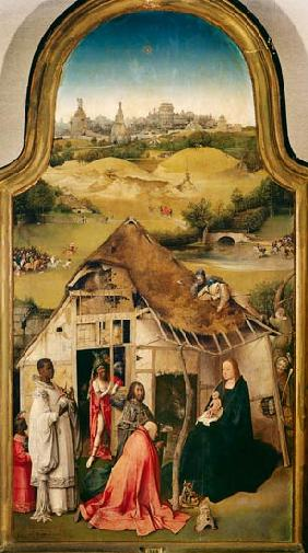The adoration of the kings middle panel of the Epiphanie triptych.