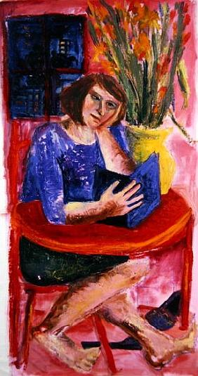Woman Reading, 2005 (acrylic on canvas)