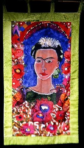 Respects to Frida Kahlo (1910-54) 2005 (dyes on silk)