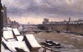 View of the Louvre in Winter