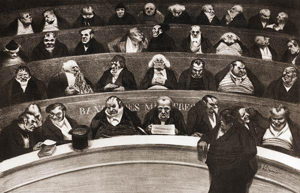 ''The Legislative Stomach'' / H. Daumier.