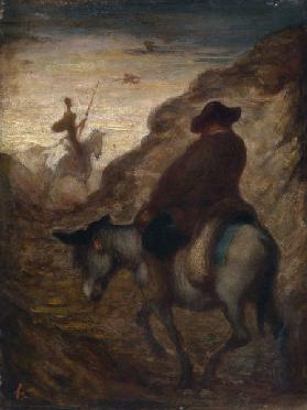 Sancho and Don Quixote, 19th century