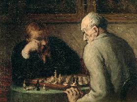 H.Daumier / Chess Players / Paint./ C19
