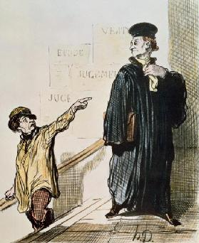 An Unsatisfied Client, from the series ''Les Gens de Justice'', c.1846