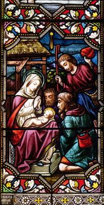 The Adoration of the Shepherds, 1865 (stained glass)
