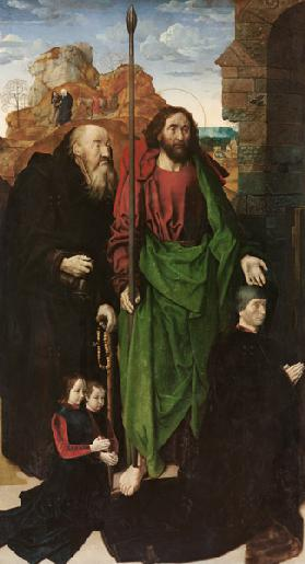 Portinari Altar, left wing: The Saints  Antonius and Thomas
