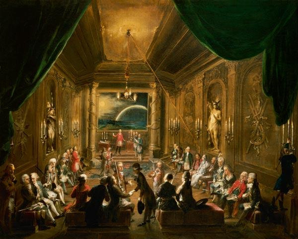 Initiation ceremony in a Viennese Masonic Lodge during the reign of Joseph II