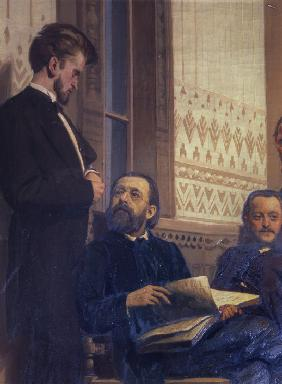 The composers Milan Napravnik and Bedrich Smetana (Detail of the painting Slavonic composers)