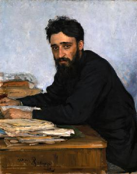 Portrait of the author Vsevolod M. Garshin (1855-1888)
