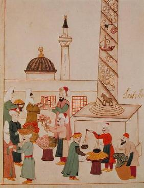 Ms 1671 A Bazaar in Istanbul