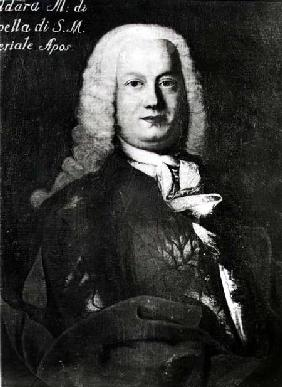 Antonio Caldara (1670-1736)  (b&w photo)