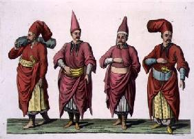 Baltadji, Kizlar-Aga etc., plate 6 from Part III, Volume I of 'The History of the Nations', engraved