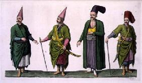 Bostandji, Khasseki and other examples of Ottoman costume, plate 5 from Part III, Volume I of 'The H