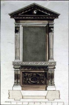 Design for a Console Table and Overmirror