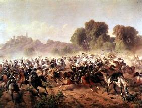 Detail of the Charge of the Battalion of Genova and Savoia Cavalry at the Volta Mountains