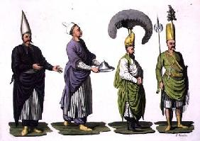 Head Baker, Head Cook and other examples of Ottoman costume, plate 4 from Part III, Volume I of 'The