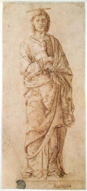 St. John the Evangelist attributed to either Giovanni Bellini (c.1430-1516) or Andrea Mantegna (1430