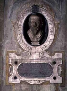 Portrait bust of Joannes Stradanus, Flemish-born painter, draughtman and tapestry designer, born Jan