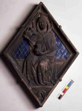 Temperance, relief tile from the Campanile