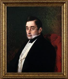 Portrait of the playwright Alexander S. Griboyedov (1795-1829)