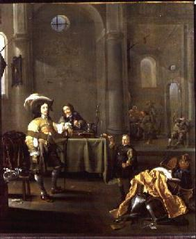 The Celebration of the liberation of a cathedral by the Dutch Militia