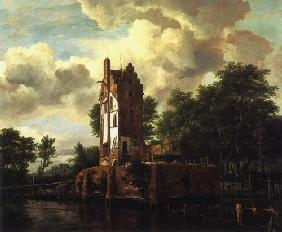 The ruin of the Huis food lost at the Amstel near Amsterdam
