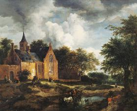 Landscape with an old church