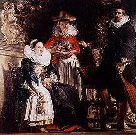 The family Jordaens in the garden