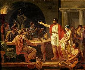 Study for Lycurgus Showing the Ancients of Sparta their King
