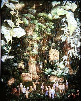 Jehovah''s Witnesses lost in the Jungle, 1989 (oil on canvas)