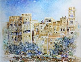 Kitchen Garden, Sana''a, North Yemen, 1975 (w/c on paper)