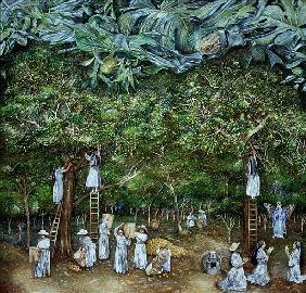 Miraculous Vision of the Virgin in the Orange Orchard, 1996 (oil on canvas)