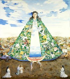 The Virgin of the Huasteca, 1988 (oil on canvas)