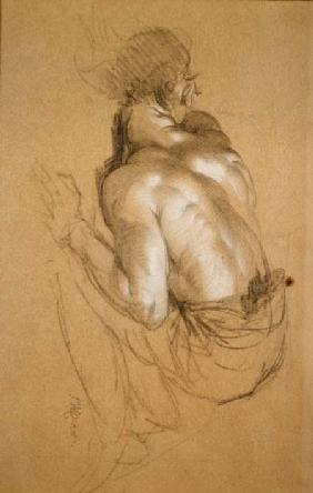 Crouching Man, study for 'The Triumph of Wellington'
