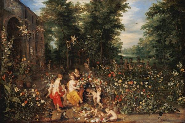 Jan Bruegel t. E. / Flora in the Garden
