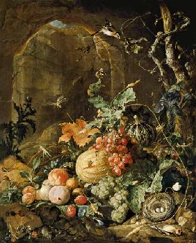 Great still life with the bird's nest
