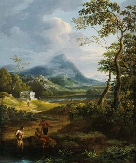 Figures in a classical landscape (pair of 81819)