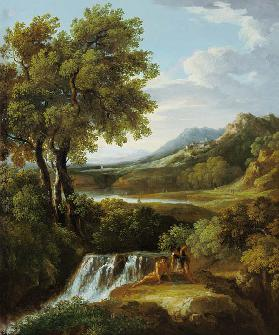 Figures in a classical landscape (pair of 81818)