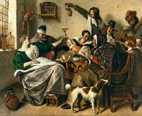 Happy society (the family of the painter)