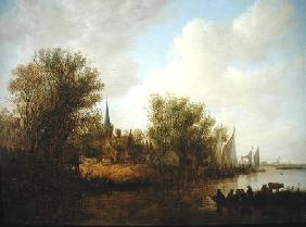 River scene with a View of Overschie