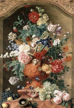 Flowers in a Terracotta Vase