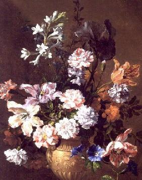 Still Life of carnations and tulips