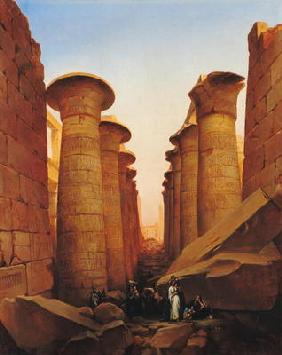 The Great Temple of Amun at Karnak (oil on canvas)