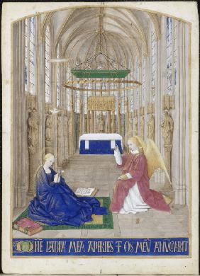 The Annunciation (Hours of Étienne Chevalier)