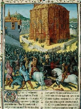 Ms Fr 247 fol.213 The Siege of Jerusalem Nebuchadnezzar, illustration from ''Antiquites Judaiques'',