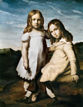 Alfred Dedreux (1810-60) as a Child with his Sister, Elise
